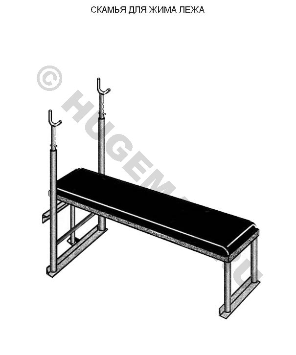 Скамейка для жима лежа своими руками чертеж 22