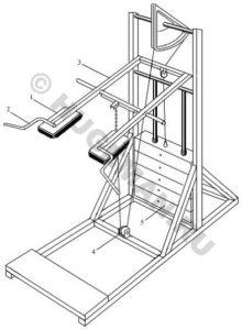 Тренажер для тренировки икроножных мышц