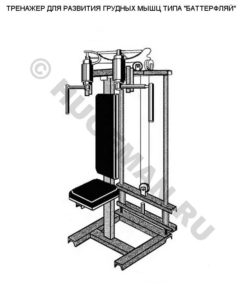 "Тренажер для развития грудных мышц типа ""Баттерфляй"""