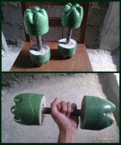 Гантели из пластиковых бутылок