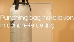 Как подвесить боксерский мешок к бетонному потолку
